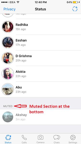 What does WhatsApp status mean