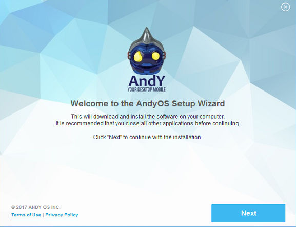 andyroid for kik - installation