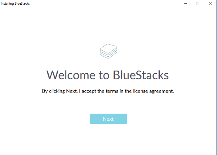 bluestacks for kik - accept license