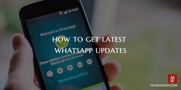 get latest whatsapp updates