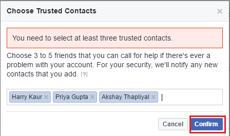 How to Add Trusted Contacts on Facebook