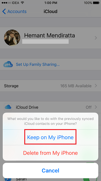 Delete All Contacts From iPhone