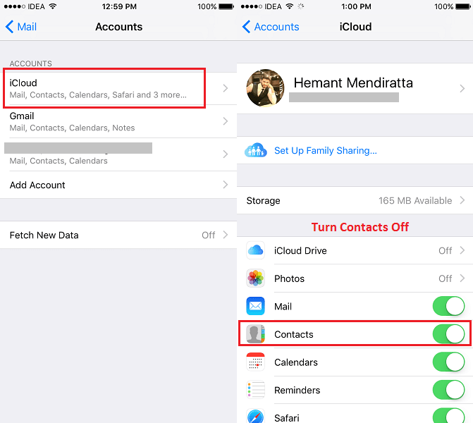 Delete all contacts on iPhone/iPad at once