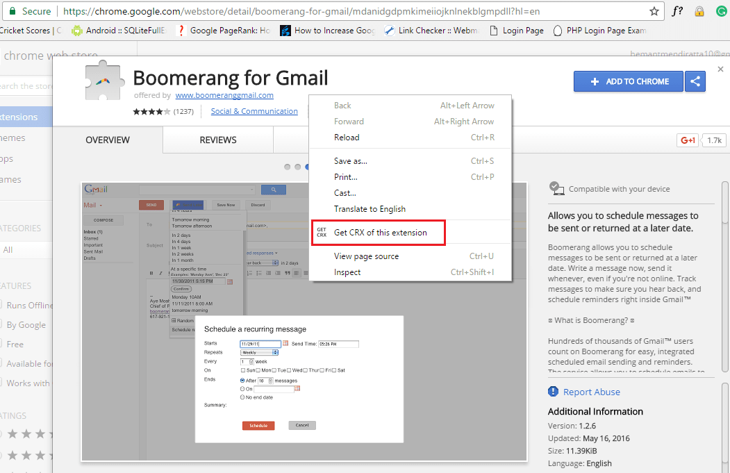 Download Chrome Plugins CRX Files
