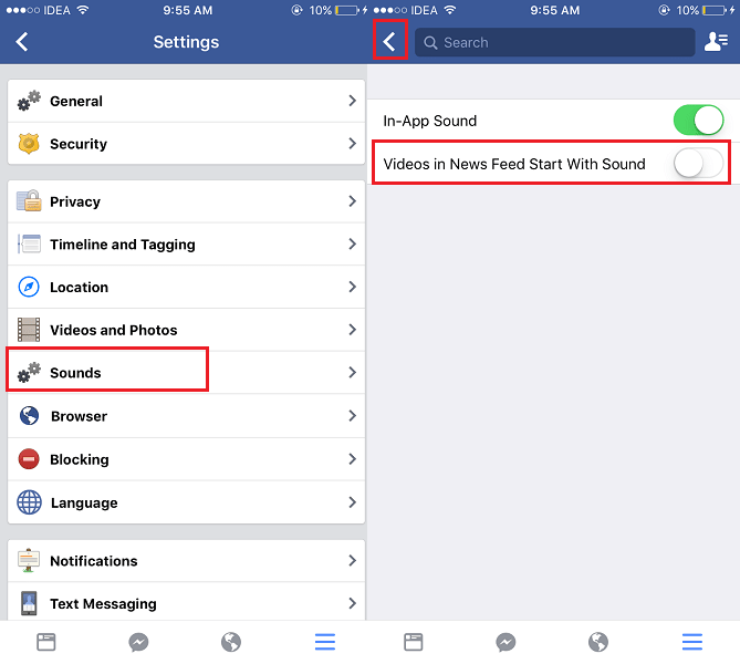 Turn Off Sound for Autoplay Videos on Facebook iOS App