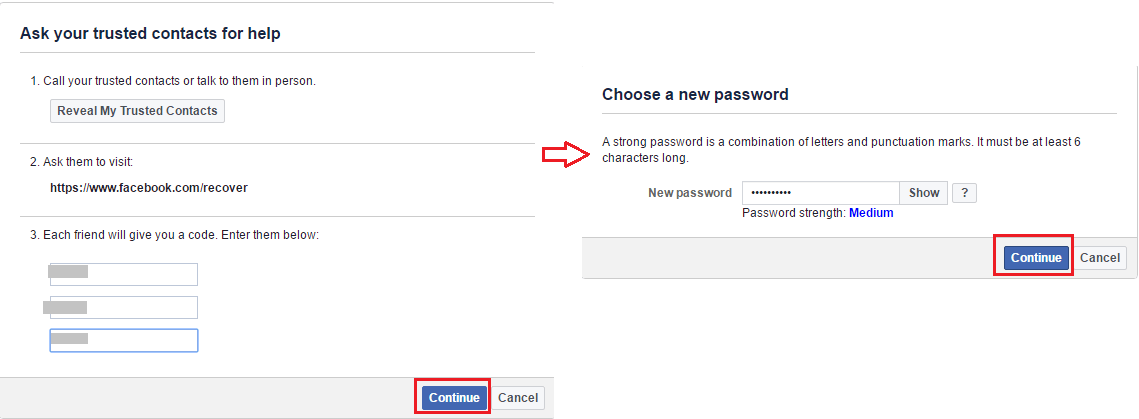 Reset Facebook Password Using Trusted Contacts