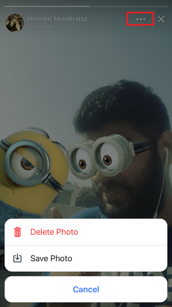 Save/Delete Photo/video from your Facebook Stories