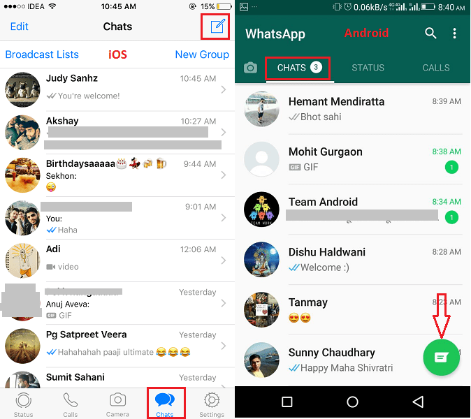 View Contacts List in new WhatsApp update
