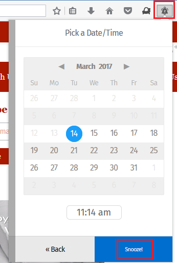 Snooze Firefox tabs to open at specific time