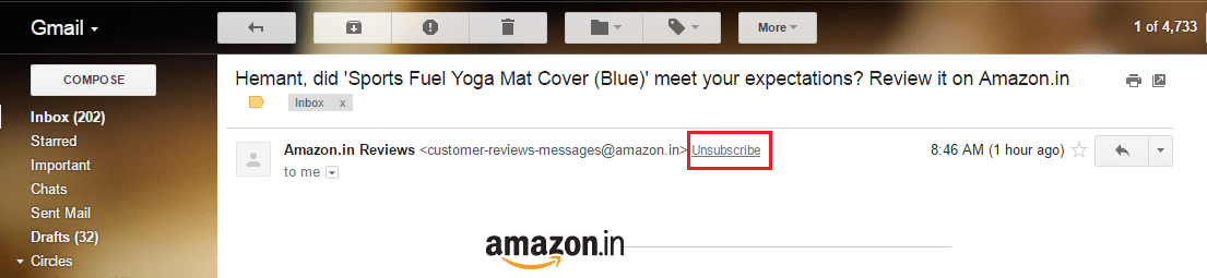 Unsubscribe from Emails in Gmail