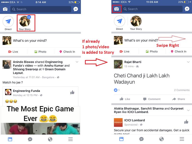 Upload Facebook Story