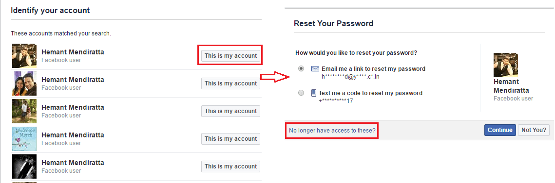 Use Facebook Trusted Contacts to Recover account