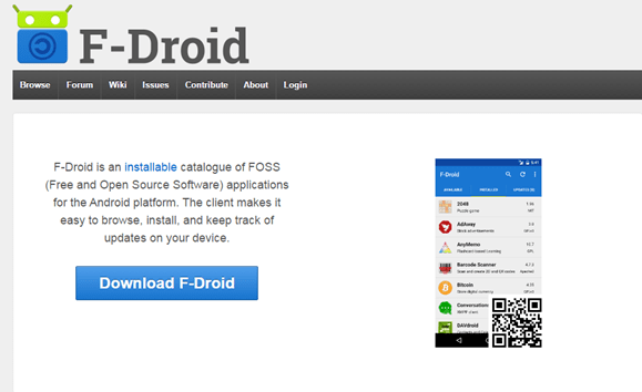 alternative android market - fdroid