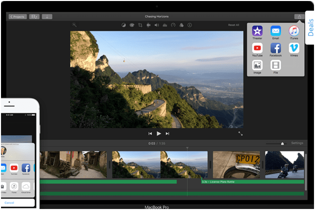 apps to add music to video clip - imovie