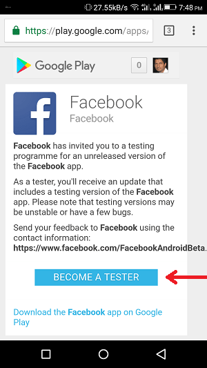how to become a facebook beta tester