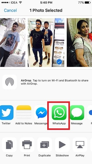 how to post whatsapp status from gallery or camera roll - ios whatsapp