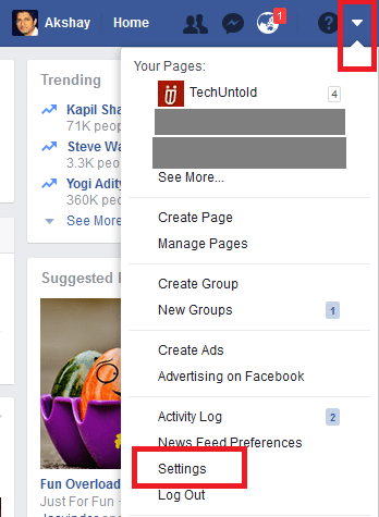 how to stop group notifications on Facebook -settings