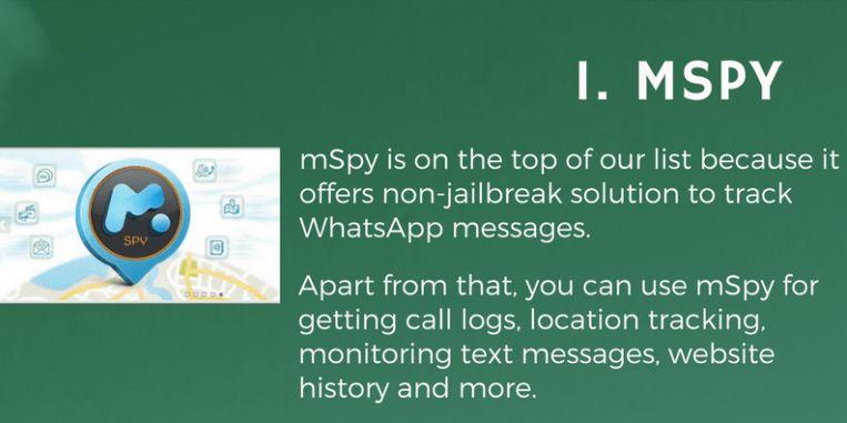 mSpy Pro spying app