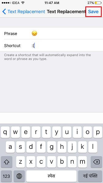 Create Emoji Keyboard Shortcuts on iPhone