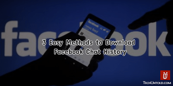 Download Facebook Chat History