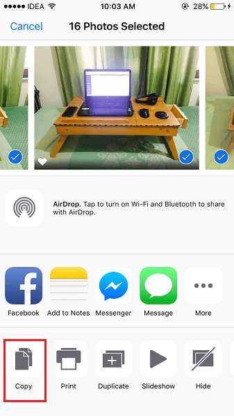 Email multiple photos or videos at once from iPhone/iPad