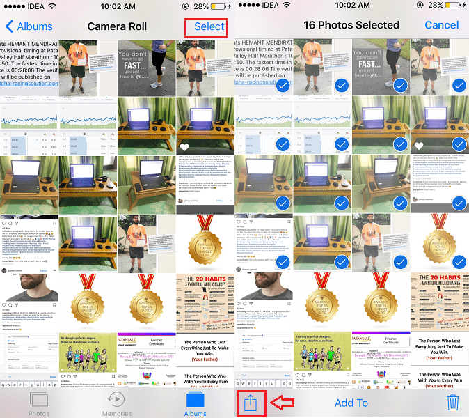 Email multiple photos or videos from iPhone
