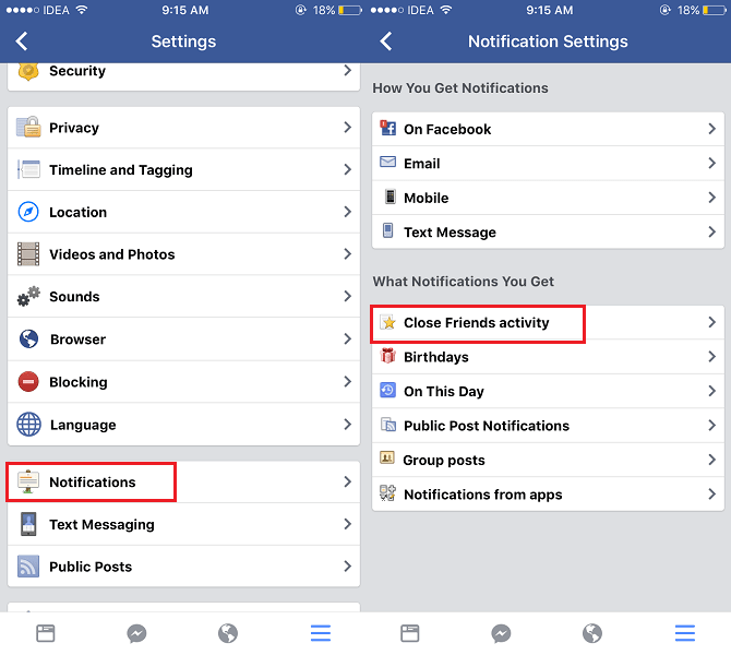 How to Stop Notifications from Friends on Facebook about their Status Updates