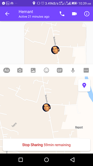 How to share live location with friends on Facebook messenger - stop sharing