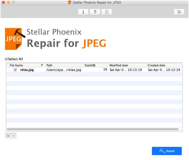 JPEG Repair Software for Mac and Windows