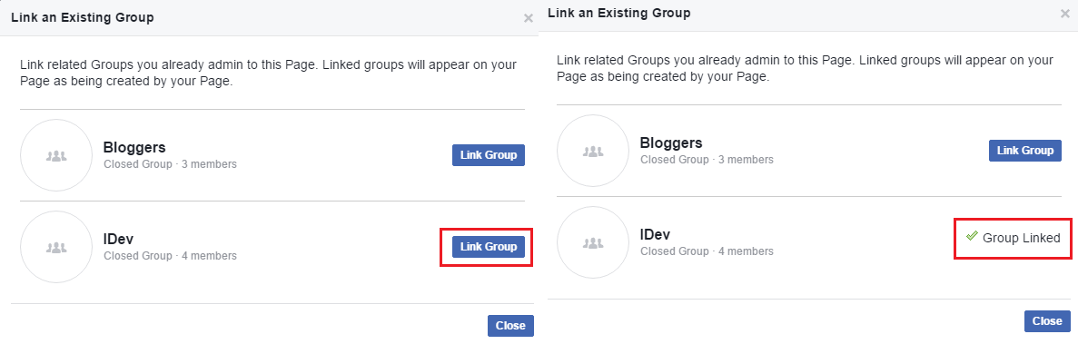 Link Facebook Groups to Facebook Pages