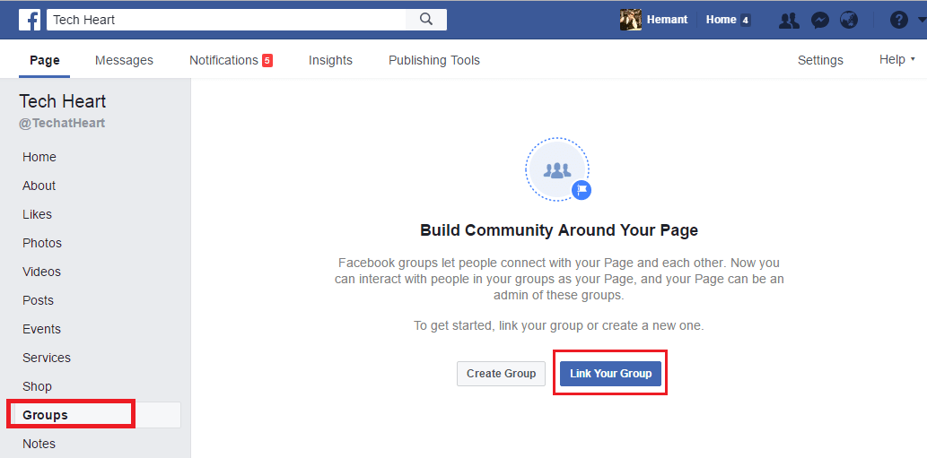 Link Facebook Groups to Pages