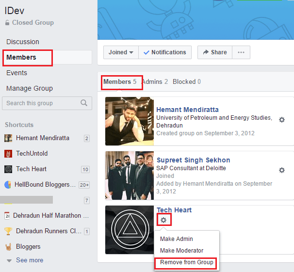 Stop Facebook Page from posting in group