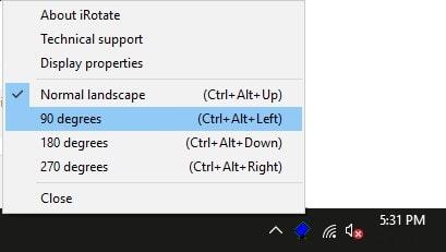 Rotate Windows Display with iRotate Software