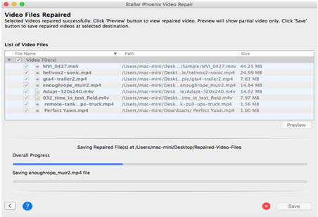 Saving Repaired Video Files on Mac/Windows