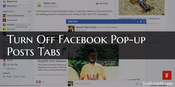 Turn Off Facebook Pop-up Posts Tabs