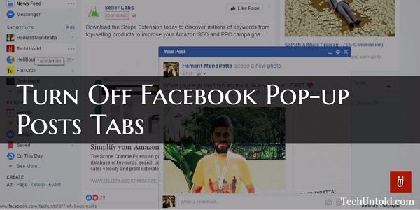 Turn Off Facebook Pop-up Posts Tabs