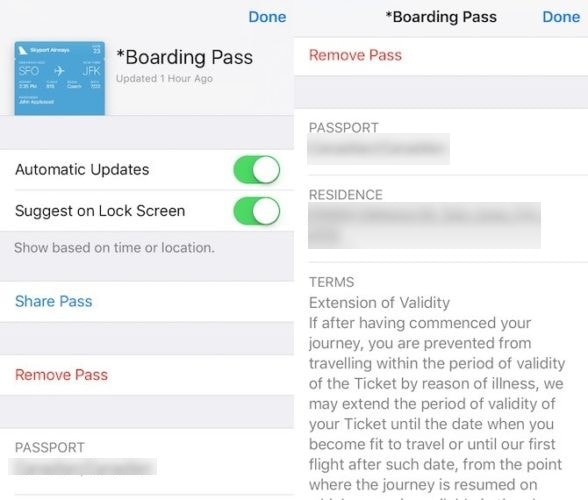 Delete/Add Passes in Wallet App on iPhone