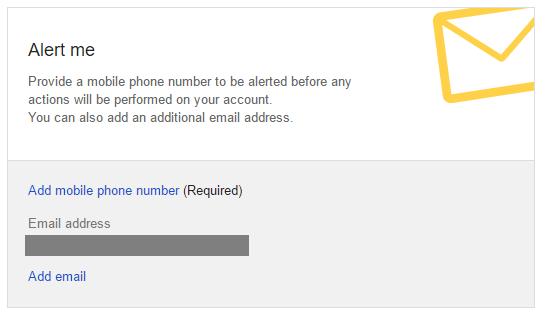 alert before account becomes inactive - alert me