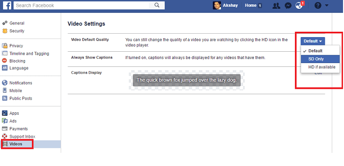 how to control or reduce data usage consumed by Facebok