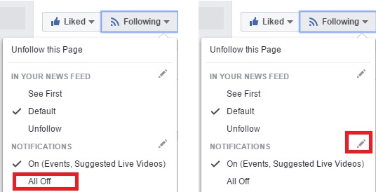 how to customize Facebook Page notification settings - all