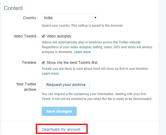 how to deactivate someones twitter account after death - option