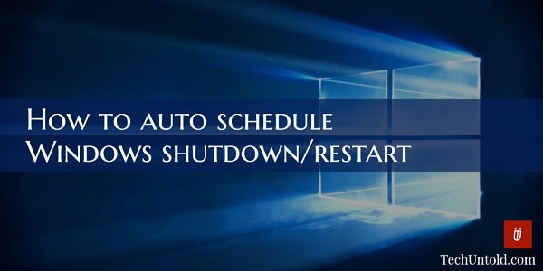 how to restart or shutdown windows after specific time interval