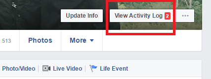how to see when you became friends with someone on facebook - view activity log