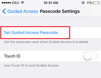 Can't come out of Guided access change guided access passcode on iOS