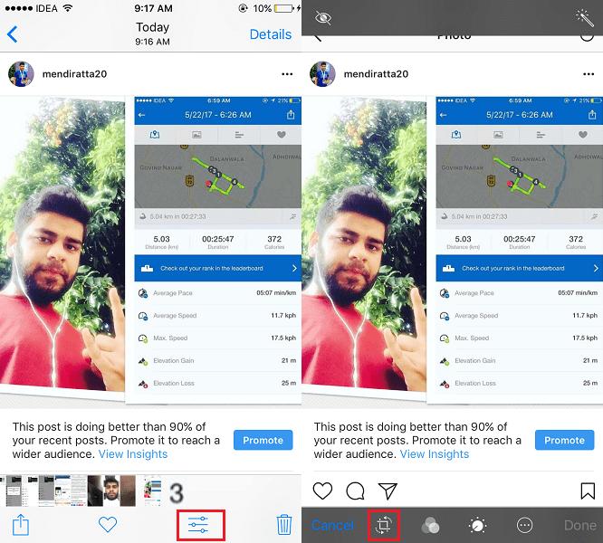 Crop Photos on iPhone or iPad