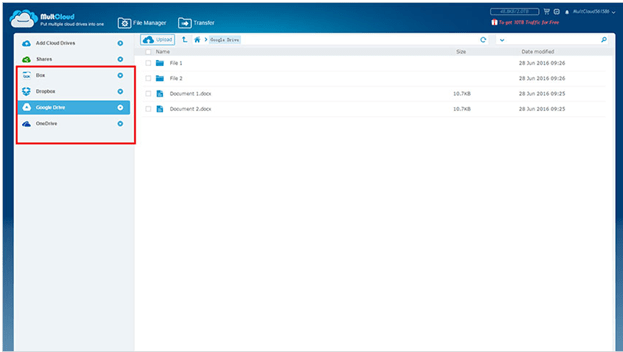 Manage Multiple Cloud Drives Together using MultCloud