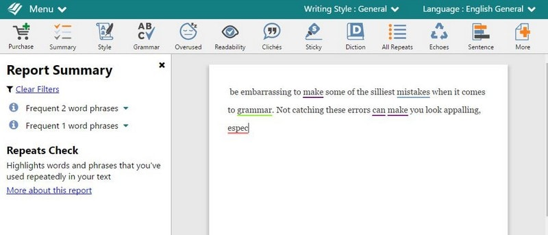ProWritingAid: Grammar Checker tools