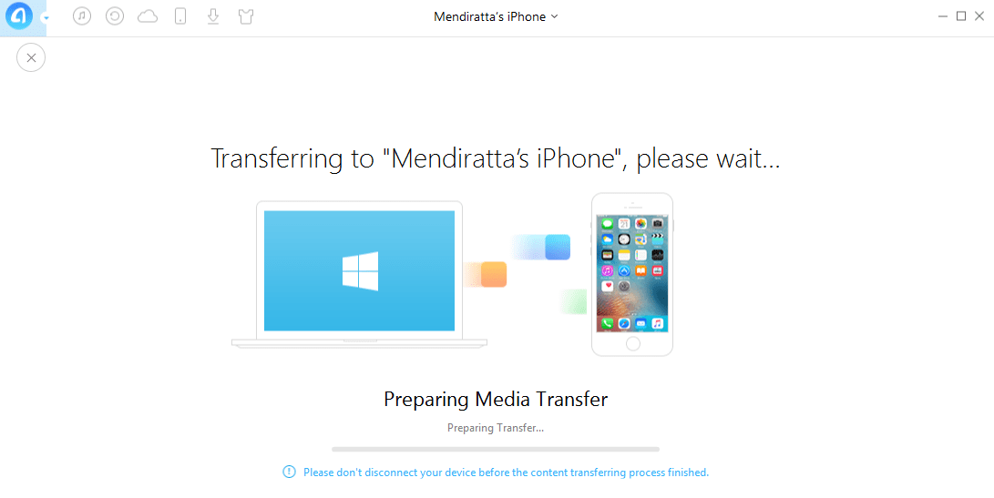 Transfer data to iPhone from PC without iTunes