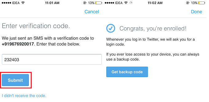 Turn On/Off Twitter Login verification