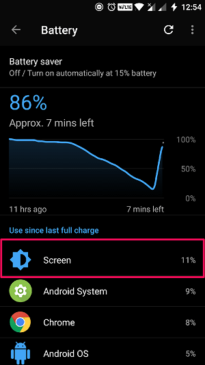 how to decrease screen brightness below minimum level on Android - battery usage